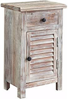 Ashley Furniture Signature Design   Charlowe Nightstand   Vintage Casual    White Wash