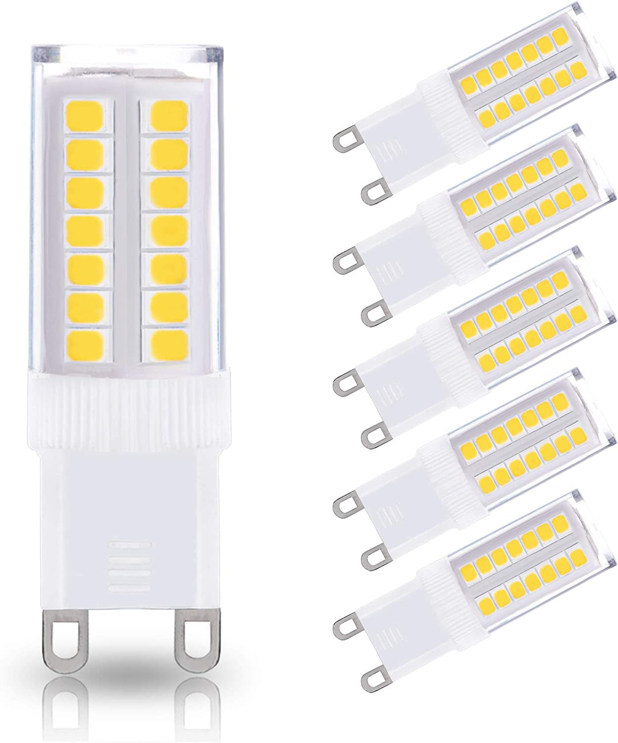 JandCase G12 Led Light Bulbs, 12W, 12W Halogen Equivalent, 120LM, Natural  Daylight White 1200K, G12 Base, G12 Bulbs for Chandelier, Wall Sconce, Not ...