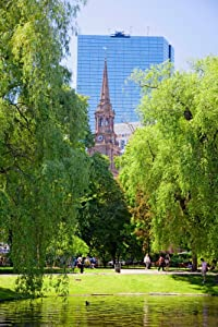Public Garden founded 1837 and Boston Common in Summer Boston Ma New England USA Poster Print by Panoramic Images (36 x 24)