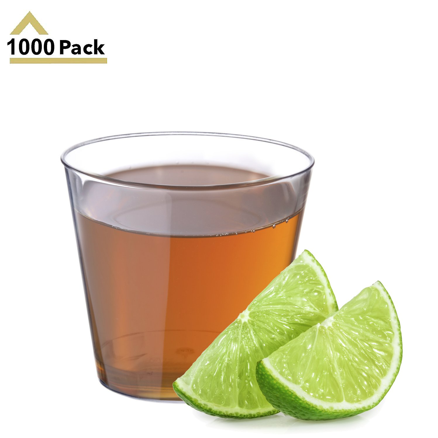 1.5oz Clear Plastic Shot Glasses 1000-Count Disposable Small Party Cups for Jello Shots, Dips, Sauces, Condiments, Wine Tasting, Food and Drink Samples - Stock Your Home