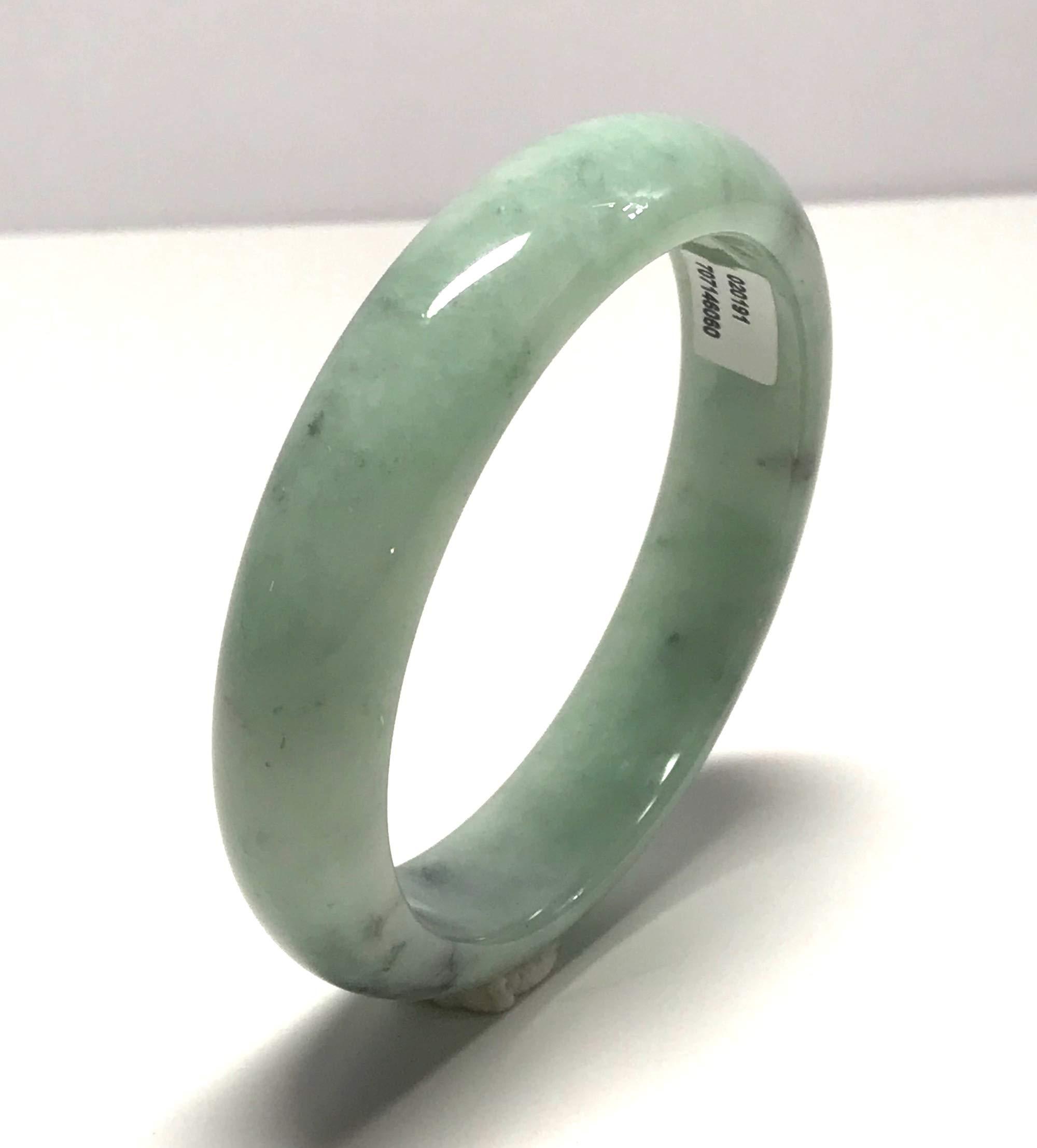 Certified Green 100% Natural A Burmese Gems Myanmar Jadeite Bangle Bracelet 61mm TA20001