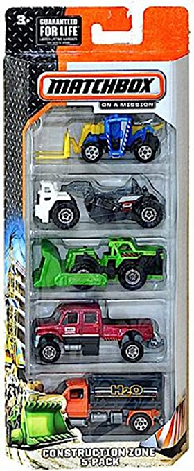 Matchbox On A Mission Construction Zone Vehicle Set by Matchbox: Amazon.es: Juguetes y juegos