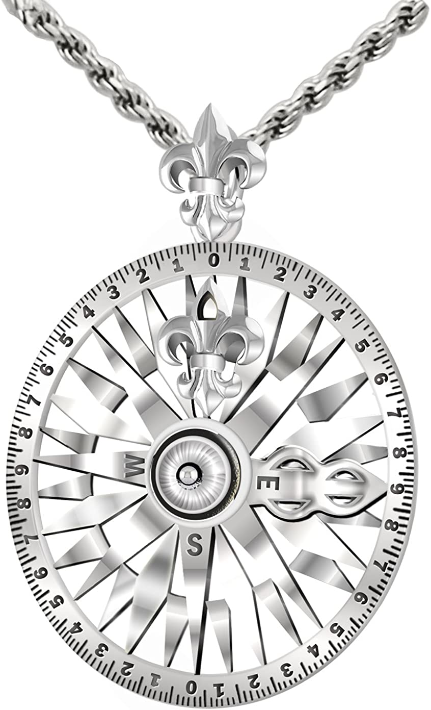 14K Yellow Gold-plated 925 Silver Drawing Compass Pendant with 18 Necklace Jewels Obsession Drawing Compass Necklace