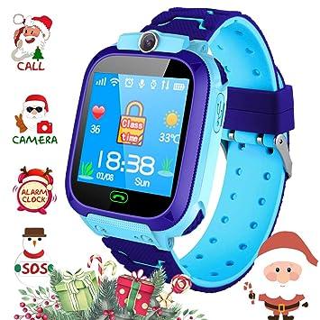 Winnes Reloj Smart para niños Teléfono, LBS Localizador Smartwatch para niños de 3 a 12 años Chicas con cámara Ranura para Tarjeta SIM Pantalla táctil ...