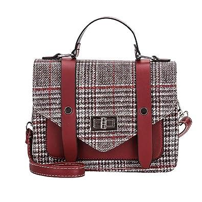 Women Leather Shoulder Bag Messenger Satchel Tote Lattice Crossbody Bag womens handbags totes shoulder bags bolsos