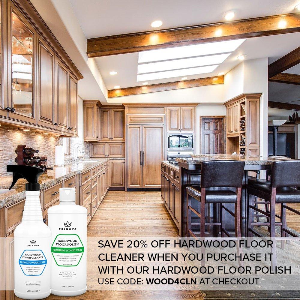 Amazon.com: TriNova Hardwood Floor Polish and Restorer - High Gloss ...