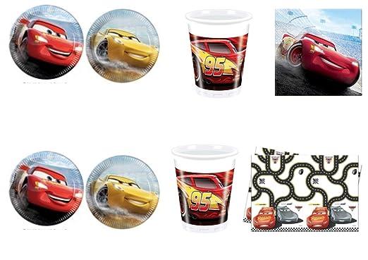 CDC - Kit N ° 10 Día y Party Cars 3 - Cars (40 platos, 40 ...