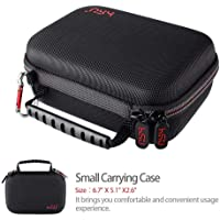 HSU Small Case for GoPro Hero 6,5, 4, 3+, 3,Hero(2018) Carrying Case for Action Cameras and GoPro Accessories(Small Size Red)