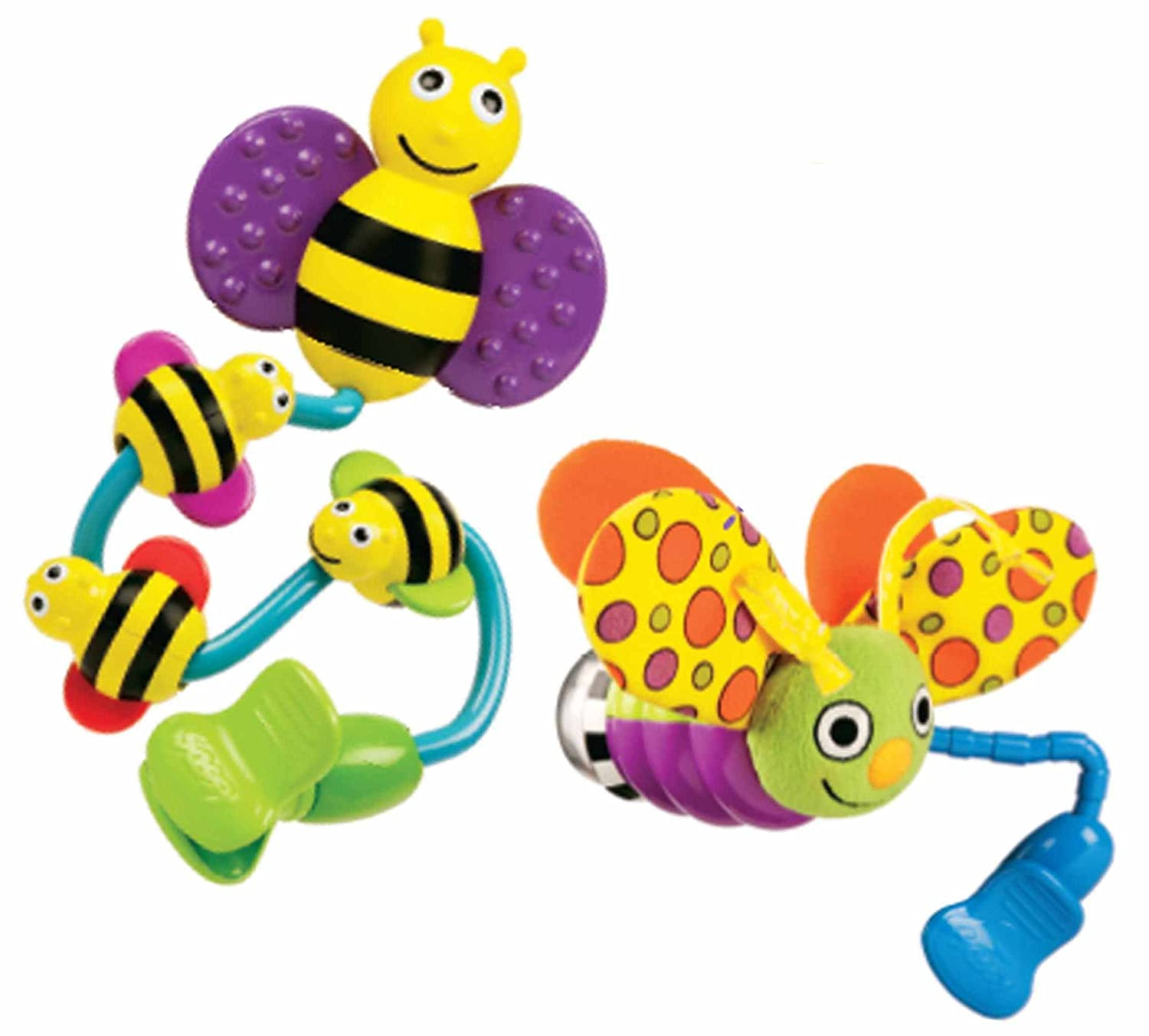 Amazon Sassy Busy Bee and Fun Firefly Stroller Clip Toys