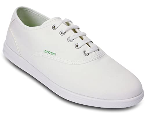 57fa2c9cc3179 Crocs LoPro Canvas Plim Men Sneaker in White  Buy Online at Low Prices in  India - Amazon.in