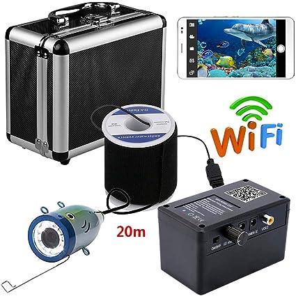 LHC-Diaoyuqi HD 720P WiFi inalámbrico 20M cámara de Pesca submarina grabación de vídeo para iOS Android App soporta grabación de vídeo: Amazon.es: Deportes y aire libre