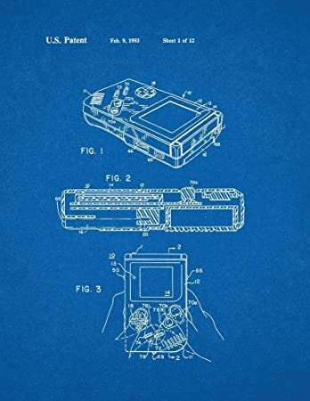 Amazon gameboy video game system patent print art poster gameboy video game system patent print art poster blueprint 85quot malvernweather Gallery