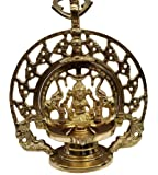 AKP Antique Decor Brass Hanging Gaja Laxmi Lamp with Chain