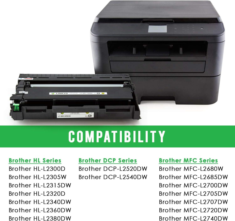 6PK For Brother MFC-L2700DW L2720DW L2740DW High Yield Toner TN660 DR630 Drum