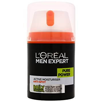 L'Oreal Men Expert Pure Power Anti-Spot Moisturiser 50ml: Amazon ...