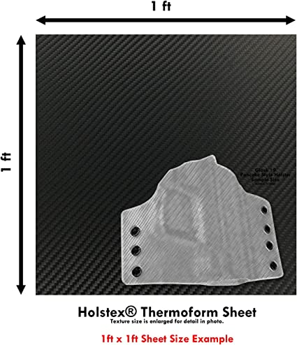 Carbon Fiber//Tactical Texture - - - .060 Gauge HOLSTEX Thermoform Sheet - Multi Colors Available - 12in x 12in Sheet 3 Pack - for Holster Making /& Hobby