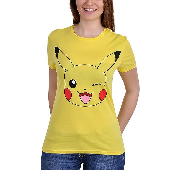 37038c55d Pokemon Official T Shirt Yellow Pikachu Face: Amazon.co.uk: Clothing