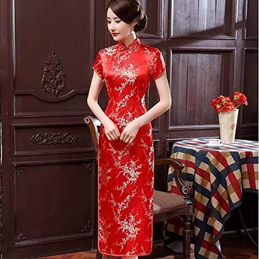 Amazon.com: Plus Size S-6XL Traditional Chinese Dresses ...