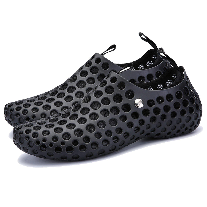 ba knife Men and Women Sandals Beach Shoes Lightweight Athletic Quick Drying Mesh Aqua Slip-on Shoes B075K6QCJ6 5.5 B(M)US Women/ 4 D(M)US Men=EU/FR 36|Black