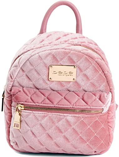 4eb45347936 Bebe Maria Velvet Quilted Mini Backpack Blush: Amazon.in: Shoes ...