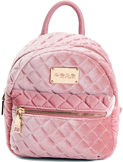 a8a8d545e3c Bebe Maria Velvet Quilted Mini Backpack Blush  Amazon.in  Shoes ...