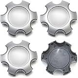 OxGord CC-69440-SL Silver Center Caps Set of 4