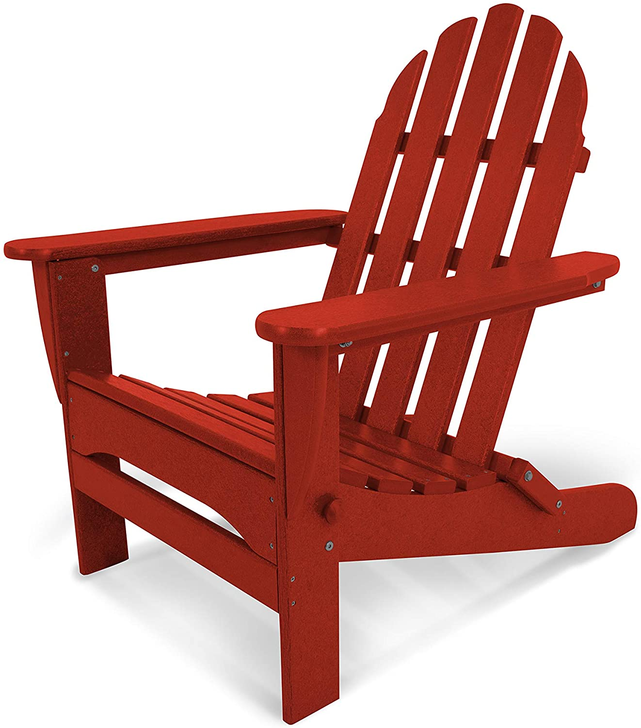 POLYWOOD AD5030CR Classic Folding Adirondack Chair,Crimson Red