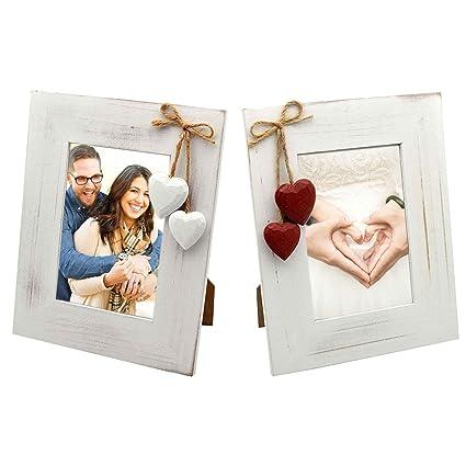 Amazon.com: White Photo Frame Bundle. 4x6 White Wooden Photo Frames ...
