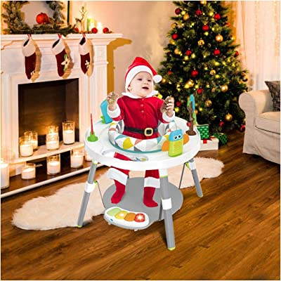 3-in-1 Sit-to-Stand Activity Center | 3-Stage Jump Entertainers Center Multi-Function Baby Activity Table Learning Walker with Toys and Music (from US, Multicolour): Kitchen & Dining