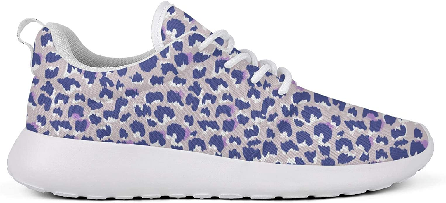 LUCKY STEP Leopard Pattern Sneakers Lightweight Running Athletic Breathable Jog Shoes