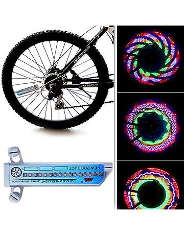 Rolson Lot de 2 Super Bright DEL Bike Bicycle Light Set-blanc//rouge NEUF
