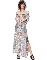 58675624a Desigual Vestido de Flor Largo para Mujer