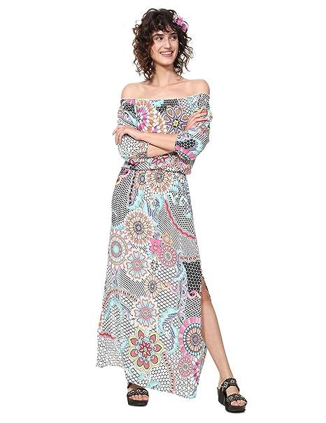 22100583e1ba Desigual Dera Vestito Maniche 3 4 Donna  Amazon.it  Abbigliamento
