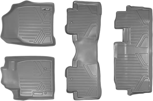 MAXLINER Floor Mats 1st Row Liner Set Grey for 2009-2015 Honda Pilot