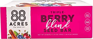product image for 88 Acres, Triple Berry Blend Seed Bars, 1.6 Ounce, 9 Pack