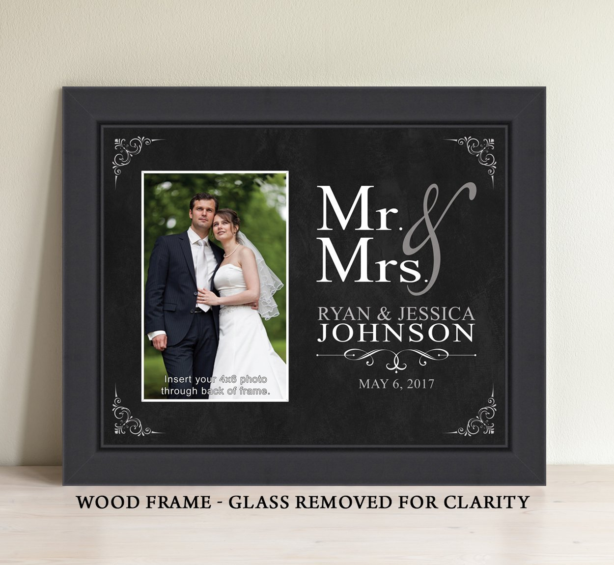 Amazon personalized mr and mrs picture frame wedding gift amazon personalized mr and mrs picture frame wedding gift bridal shower gift handmade jeuxipadfo Image collections