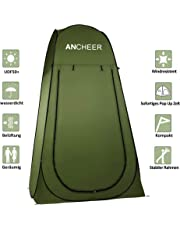 ANCHEER Pop-Up-Zelt WC Zelt Outdoor tragbares Duschzelt Toilettenzelt für Camping (190x104x104cm)