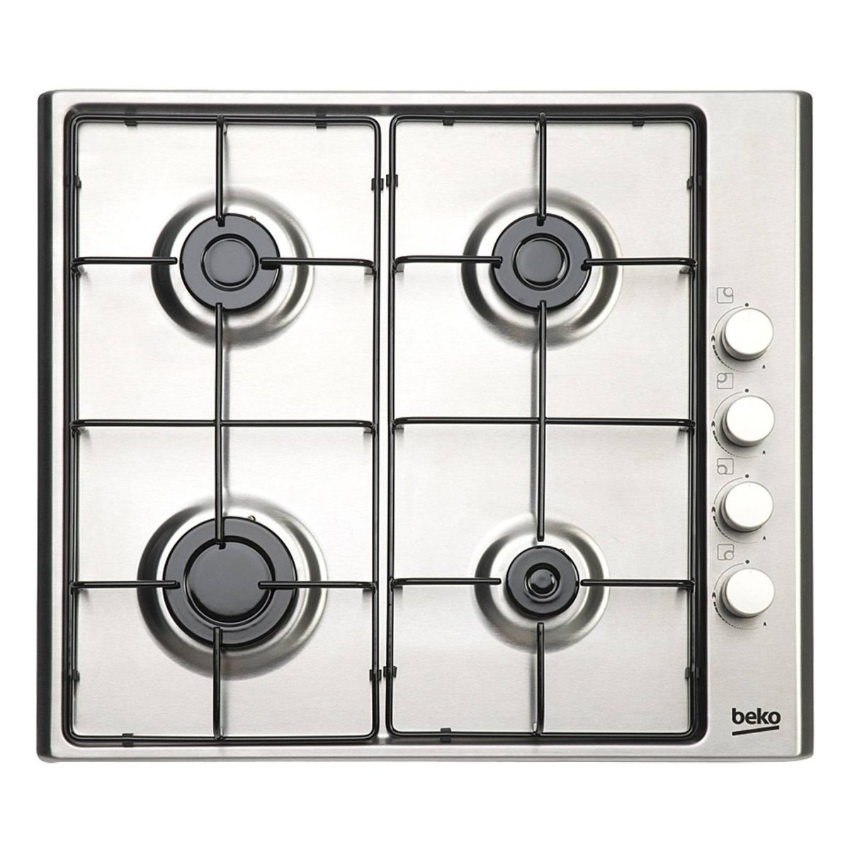 Beko HIZG64120SW Built-in Gas Hob White Hob – Plate (Built-in, Gas Hob, White, 1000 W, 2000 W, 2900 W)