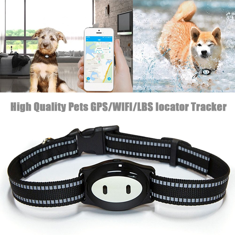 New Arrival GPS/WIFI/LBS Pets Locator Tracker Finder Mini Tracking Device IP68 Waterproof Sleeping Monitoring Feeding Reminder GPS Location Finder With 120H Standby Ksruee