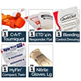 North American Rescue M-FAK Mini First Aid Kit with CAT Tourniquet and QuikClot Bleeding Control Bandage