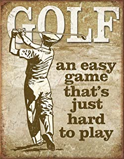 Golf   Easy Game Tin Sign 13 X 16in Part 92