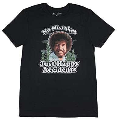 89691904529d3 Amazon.com  BobRoss Mens Distressed No Mistakes Just Happy Accidents ...
