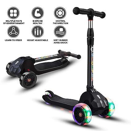 Amazon.com: Patinete para niños de 3 ruedas, altura ...
