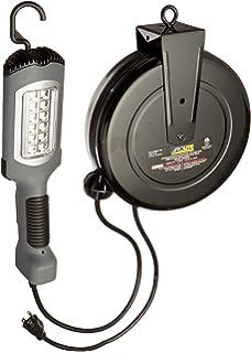 Beau Alert Stamping 5030AHS LED Cord Reel Shop Garage Work Light 1000 Lumens,  Gray