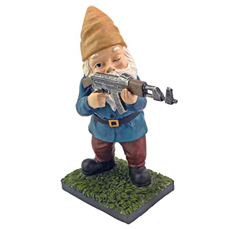 Military Garden Gnome With An Ak47 Funny Army Statue Perfect For Gun Lovers Military Collectors Combat Enthusiasts Army Men Indoor Outdoor Lawn Yard Decor Standing Traditional Amazon In Garden
