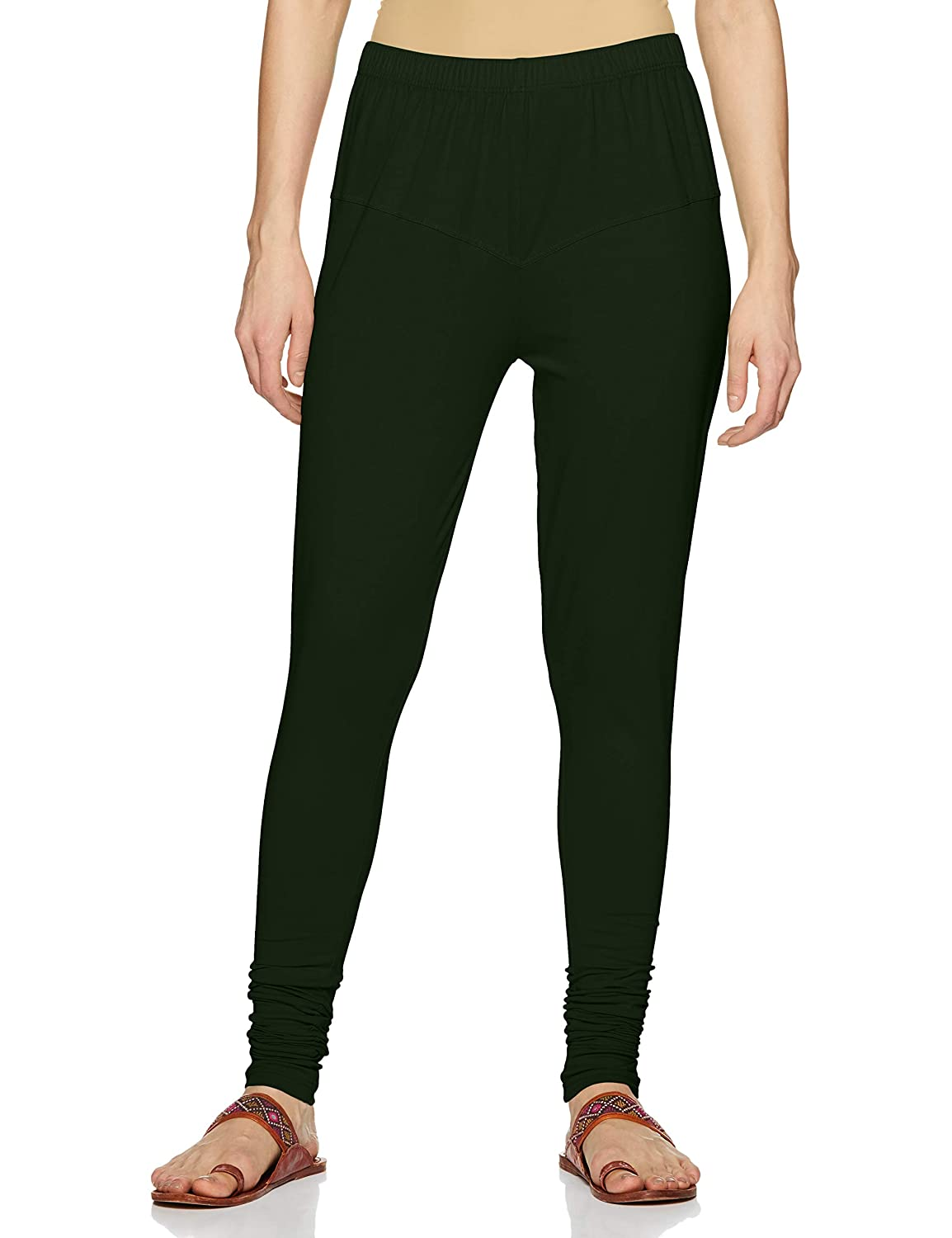 LUX LYRA Women's Leggings Silk_58_Fourleaf Green_Free Size