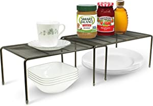Sorbus Pantry Cabinet Organizers —Features Stackable Expandable Shelves Made of Steel — Ideal for Pantry, Cabinet, Countertop, and much more in Kitchen/Bathroom (Bronze)