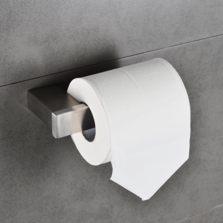 Paper Towel Holder Set Bathroom Toilet Paper Roll Hanger Tissue Dispenser Kitchen Storage Bath Hand Towel Bar Rack Modern Square Wall Mount Brushed Nickel MARMOLUX ACC