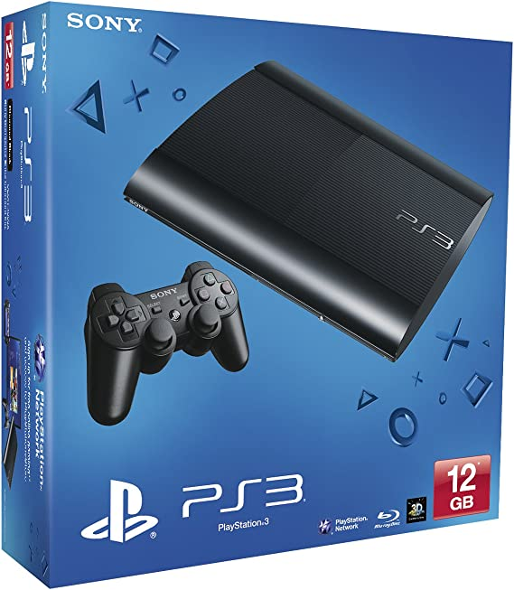 NEW! Sony Playstation 3 PS3 12Gb Super Slim Console Black UK: Amazon.es: Electrónica