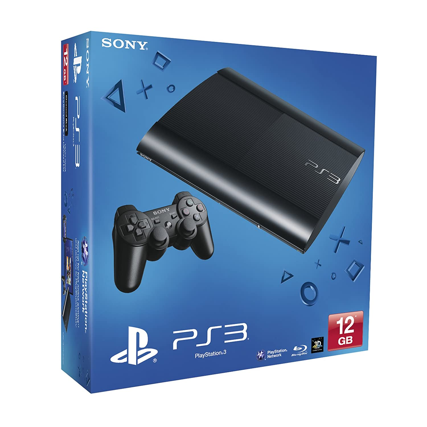 NEW! Sony Playstation 3 PS3 12Gb Super Slim Console Black UK: Amazon ...